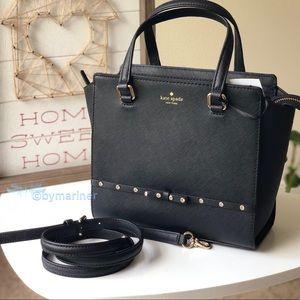 Kate Spade Laurel Way Jeweled Black New